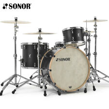 "NEW Sonor SQ1 Series 24"" 3-Piece Drum Shell Pack GT Black SQ1-324NMCGTB"