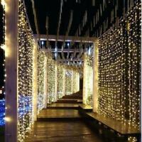 300 LED 3m Fairy Curtain String Lights Wedding Party Room Decor  Holiday