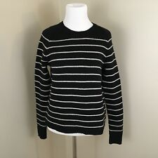Madewell Womens XS Sweater Zipper Pullover Black White Stripe (M8)