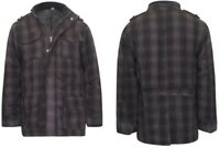 Mens Wool Mix Check pattern Coat Jacket
