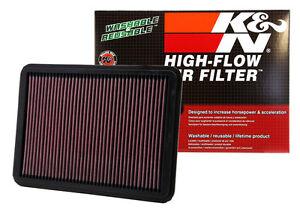 K&N Reusable AIR FILTER FOR VW GOLF R32 MK5 06-10 3.2L BUB VR6 24V AWD 4MOTION