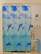Alllure Shower Curtain Happy Dolphin 100% Vinyl