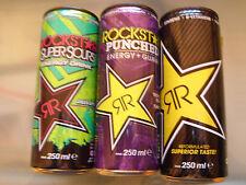 Energy drink, Rockstar Germany mini set 250ml, 3x full Cans