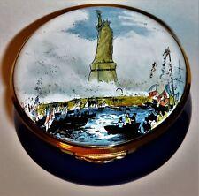 Staffordshire English Enamel Box - Statue Of Liberty -New York City- 4Th Of July