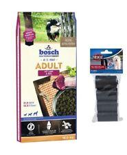 15kg Bosch Adult Lamm & Reis Hundefutter +  80 Stk. Kotbeutel