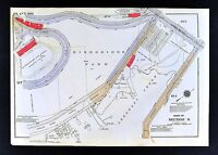 1934 New York City Map Manhattan Washington Heights Nagle Avenue Dyckman Street