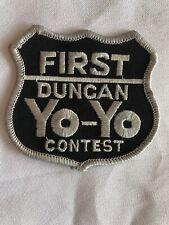 """Vintage Rare Duncan Yo-Yo """"First"""" Shield Patch Small"""