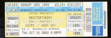 Genitorturers UNUSED VINTAGE 2002 CONCERT TICKET Halloween Gen/stub/no-cd MINT!