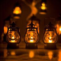Halloween Vintage Pumpkin Night Light Lamp Party Hanging Home Decor LED Lantern