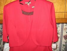 WOMENS DRESS SIZE 18 FORMAL EVENING WEDDING COCKTAIL RED BEADED RETAIL $100.00