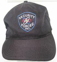 Vintage National Patrol SECURITY FORCES INC. Snapback Cap Security Guard BLK Hat