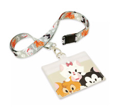 Disney Parks Cats Lanyard and Card Holder New with Tag