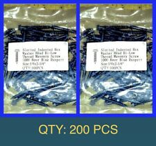 Bag Of 200 Qty 1/4� X 2-1/4� Inch Long Slotted Hex Washer Head Masonry Screw Blu