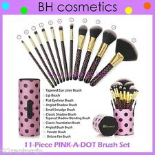 ❤️⭐NEW BH Cosmetics 😍🔥👍 PINK-A-DOT Brush Set 💎💋 11-Piece w/Cup Holder Polka