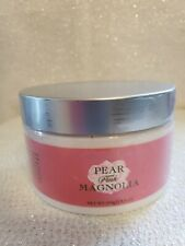 Crabtree & Evelyn PEAR & PINK MAGNOLIA  Skin Silkening Body Souffle 8.8 oz READ