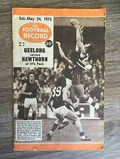 1975 VFL AFL football record Geeong Cats vs Hawthorn Hawks May 24 1975