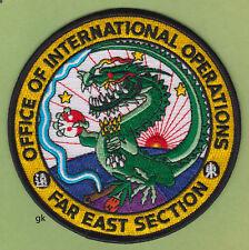 DEA DRUG ENFORCEMENT ADMINISTRATION  FAR EAST ASIA  DRAGON POLICE PATCH