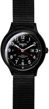 Dakota Field Watch Large 7763-2 Black plastic casing. Black face. White numerals