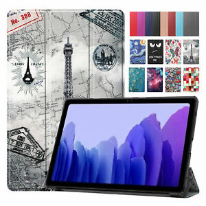 """For Samsung Tab A7 10.4"""" T500 T505 Smart Case Flip Leather Full Protective Cover"""