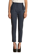Vivienne Westwood Anglomania Dark-Blue Flap Pocket Trousers - IT 42 UK 10