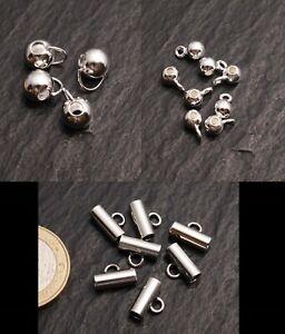 Zwischenteil Kugel und Rohr verlötete Öse Anhänger Kette Silber 925 Steinschatz