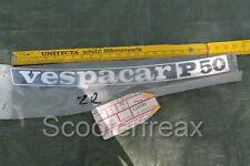Vespa Vespacar P50 APE Emblema NUEVO NOS 24cm 184871 Divisa Placa Piaggio