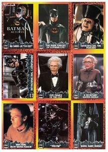 Batman Returns 1992 Topps Complete Base Trading Cards Set & Stadium Club Set