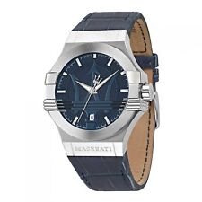 "Maserati Men's Analogue Quartz Watch With Leather Strap €"" R8851108015"