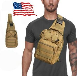 Mini tactical chest bag and shoulder bag can be used for leisure, camping, mount
