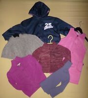 LOT FILLE HIVER -RENTREE DES CLASSES-COUPE VENT-ROBE POLAIRE-PULL-GILET - 5 ANS