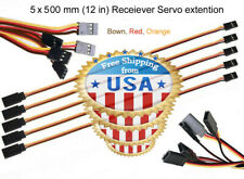 5 X 500mm Servo Extension Lead Wire Cable For RC Toys Receiver to Servo Adapter.