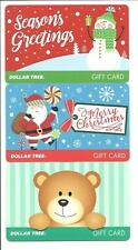 Lot of (3) Dollar Tree Christmas Santa Snowman Gift Cards No $ Value Collectible