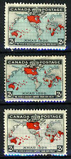 CANADA Queen Victoria 1898 Imperial Penny Post Set SG 166 to SG 168 MINT