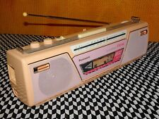 Panasonic 1980s Pink and Peach Stereo Radio Cassette Recorder. Just Beautiful.