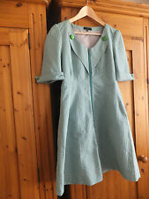stunning Minis Green  dress coat size 08 OR 36