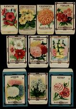 1910's ORIGINAL USPS FOREVER STAMPS SET OF THE 10 SEED PACKETS USED FOR STAMPS
