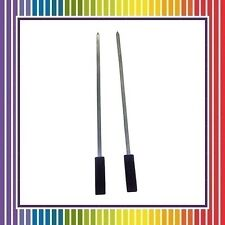 """11"""" Stainless Steel Skewers Set Sticks for Barbecue BBQ Kabab Grill - 2 PCS"""