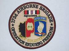 173d AIRBORNE BRIGADE OPERATION ENDURING FREEDOM PATCH