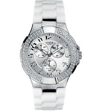 new GUESS Women Waterpro White Crystal Watch G10583L New with original Guess box