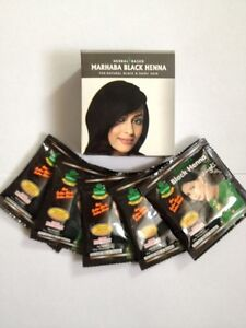 Henna Mehndi Natural Black Colour Marhaba x 25 packs