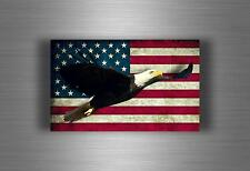 Autocollant sticker voiture moto aigle usa américain drapeau etats unis moto
