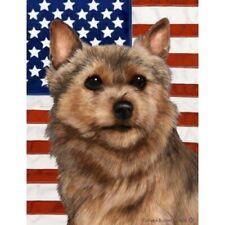 Patriotic (D2) Garden Flag - Norwich Terrier 321521