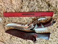 VINTAGE GIL HIBBEN UC898 DRAGON LORD FANTASY KNIFE W/LEATHER SHEATH/ORIGINAL BOX