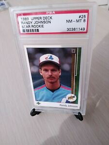 1989 Upper Deck #25 Randy Johnson RC Expos Pitcher HOFer PSA GRADED NM-MT *8*!!!