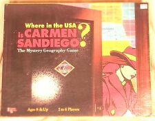 Where In The USA Is Carmen Sandiego Geography Board Game 1993 Complete UG1610