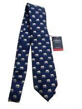 Charles Tyrwhitt Tie, Classic Silk Elephant Motif - Navy & Grey - NEW w/ Tags
