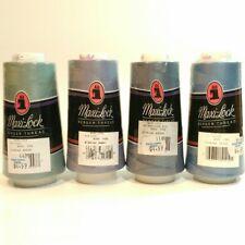 Maxi-Lock Serger Overlock Thread 3000 Yard Cones set of 4 Aqua Lilac Blue Brown