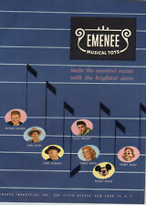 1957 PAPER AD 8 PG Emenee Toy Elvis Guitar Sandy Wirth Howdy Doody Uke Harp