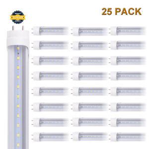 6-100 PACK G13 4FT T8 LED Tube Light LED Bulbs 24W 6000K CLEAR LENS