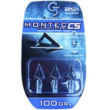 "G5 Broadhead Montec CS 3pk 100 Grain 1 1/16"" Cut Carbon Steel #00113"